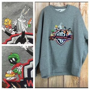 ☮️Warner Bros Studio Store Embroidered Sweatshirt